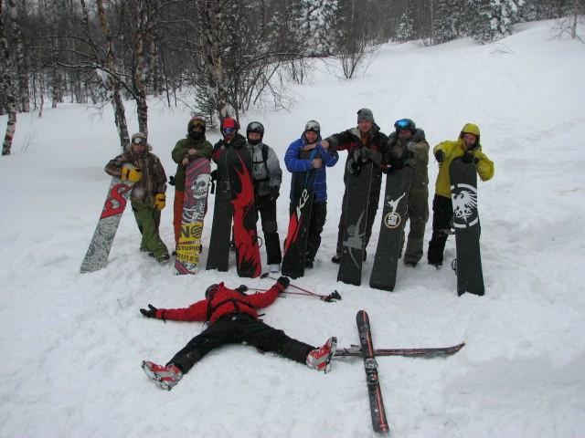И-и?! Сноубордисты жгли. Вся банда катала