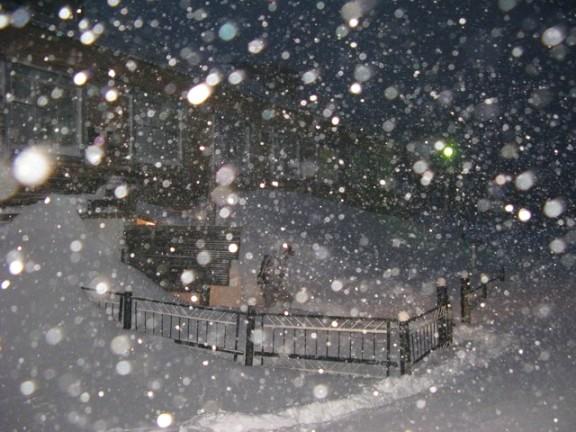 Снег идущий всю ночь